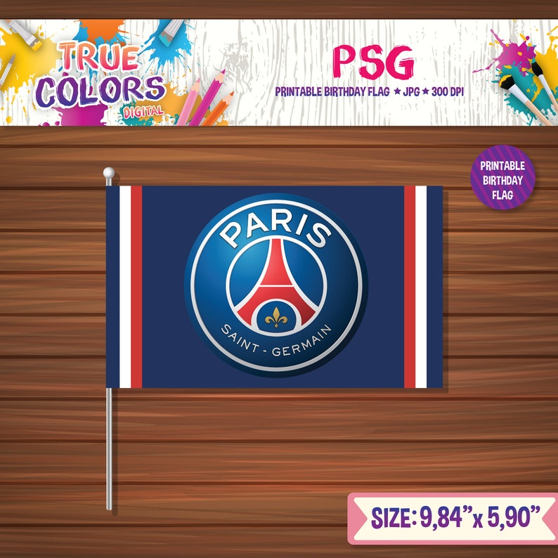 photograph about Printable Flags identify PSG Birthday Flag, PSG printable flags, printable flagss, football birthday flag, Winner League printable flags, birthday flags
