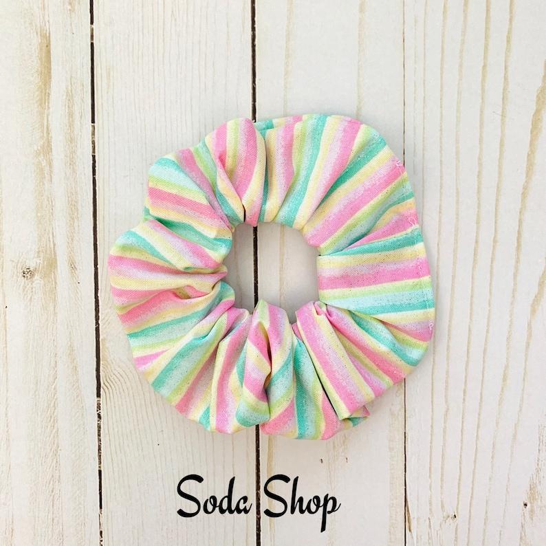 Boardwalk Sprinkles Ice Cream Sweets Scrunchie Hair Scrunchies