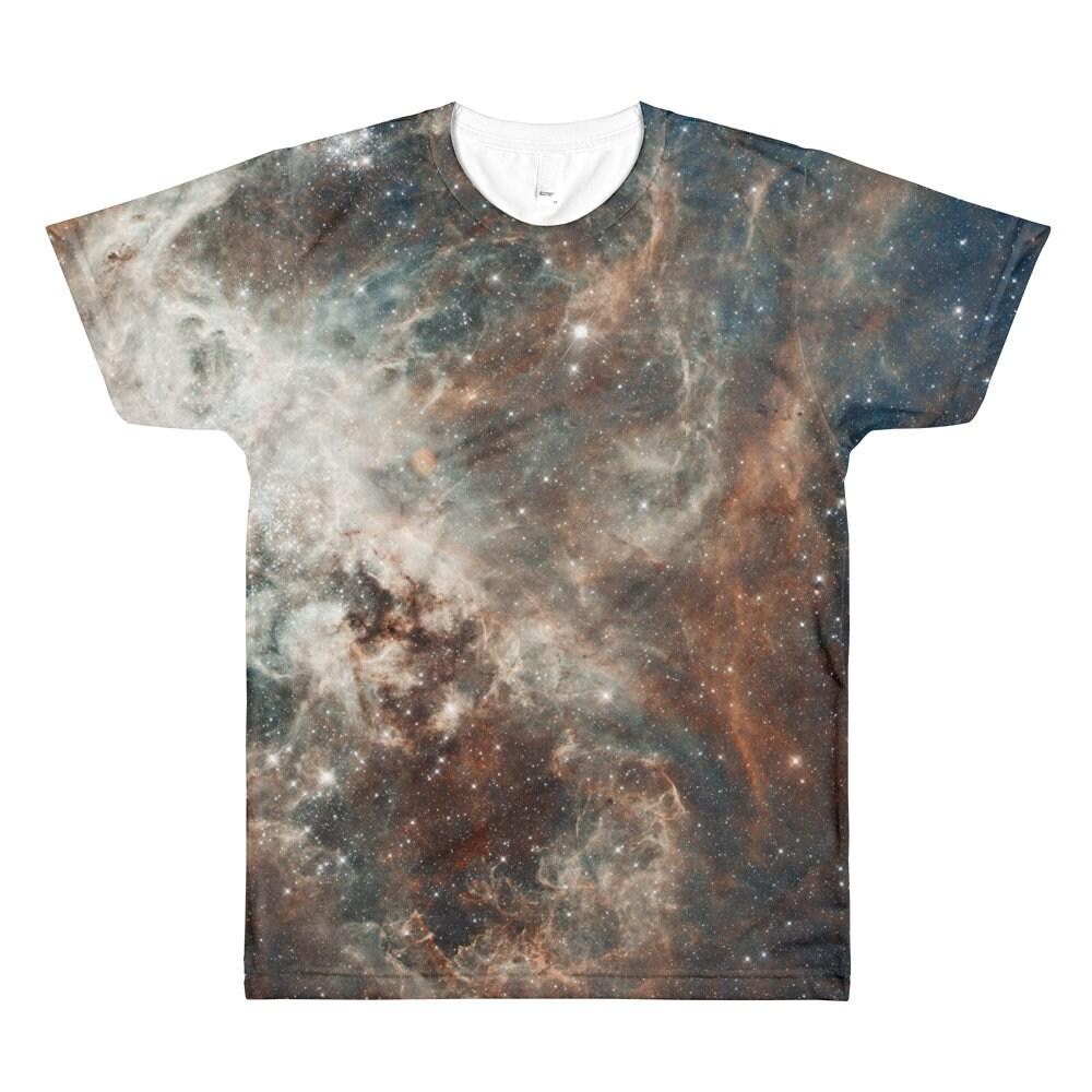 Galaxy Print Shirt Real Hubble Image All Over Tshirt 30 Etsy