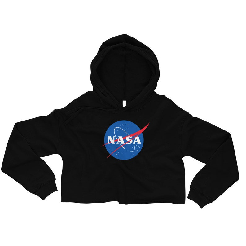 5b267b8892025a NASA cropped hoodie NASA crop top hooded sweatshirt