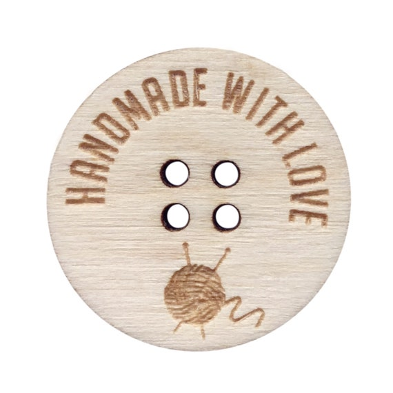 Crochet Customise this Space 20mm Wooden Walnut Buttons Handmade Products