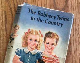 The Bobbsey Twins in the Country, Book 2, by Laura Lee Hope with dust jacket (Grosset & Dunlap 1950)