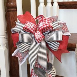 Holiday Bow Autism Decor Gift Bow Autism Bow Farmhouse Bow Lantern Bow Bows for Lantern Year Round Bow Autism Wreath Bow
