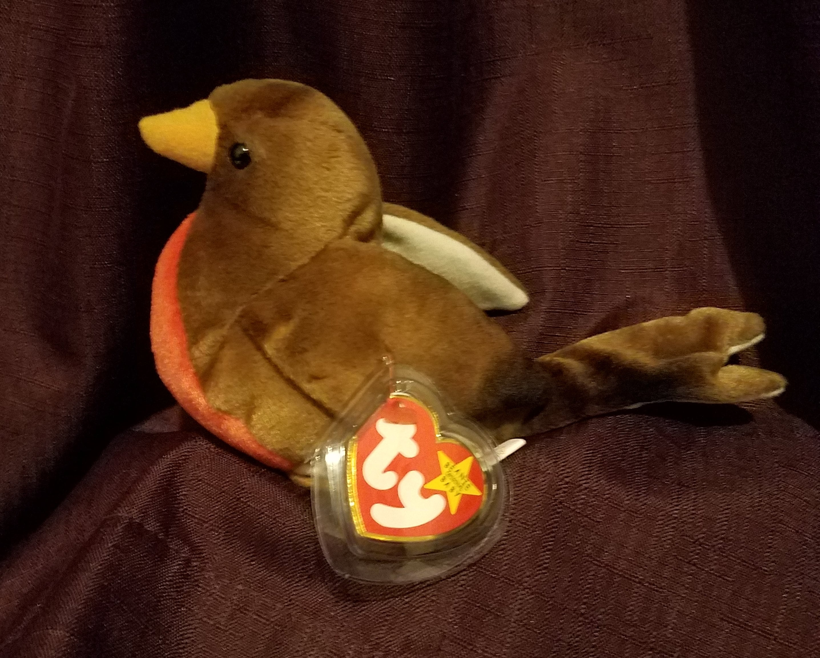 8de89e48082 TY Beanie Babies Early the Robin and Beak the Kiwi Bird. 1