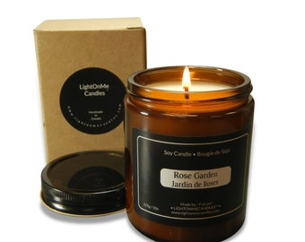 Candle - Rose Garden - Premium fragrance - Soy Wax Candle
