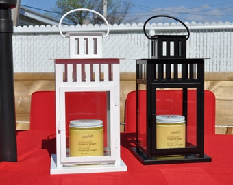 Outdoor Candle Lantern, Soy Candle, Citronella Candle