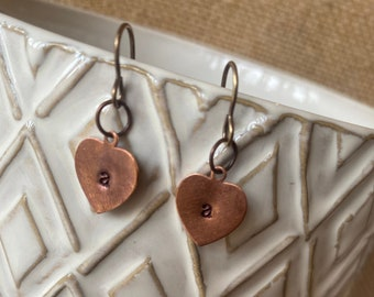 Personalized Hand Stamped Letter Earrings