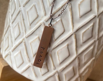 """Personalized Necklace - """"Loved"""" """"Hope"""" """"Blessed"""" - Anniversary, Birthday, Christmas Gift"""