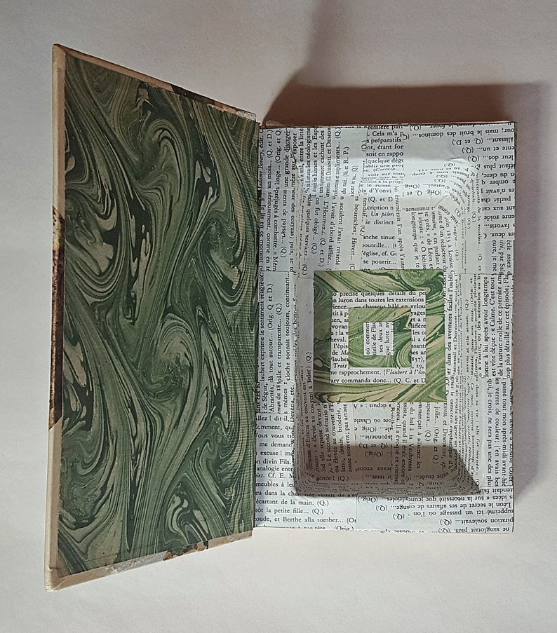Handmade Book Box, Made From an Old Version of Madame Bovary