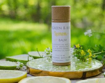 ORGANIC LEMON LIPBALM | Moisturizing, Biodegradable, Lemon, Lip Balm