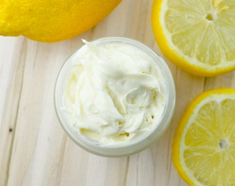 LEMON BUTTER WHIP | Moisturize, Treat, Hydrate with Organic Whipped Body Butter