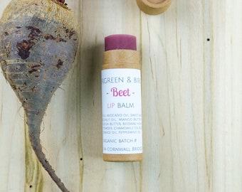 BEET ROOT LIPBALM | Hydrating, Organic, Biodegradable Lip Balm