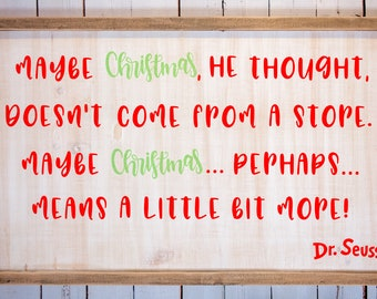 How The Grinch Stole Christmas Quotes.How The Grinch Stole Christmas Quote Etsy
