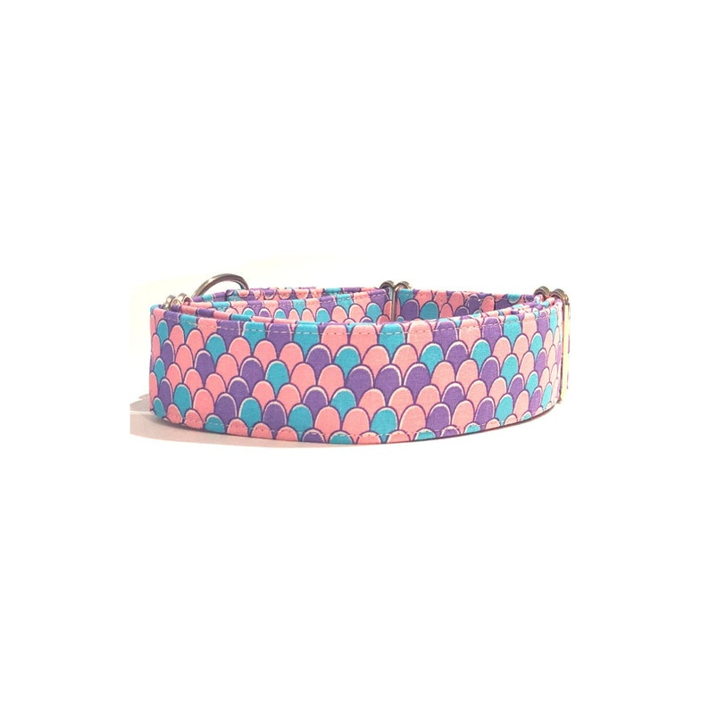 Mermaid Dog Collar - Buckle or Martingale - Custom Embroidery Available!