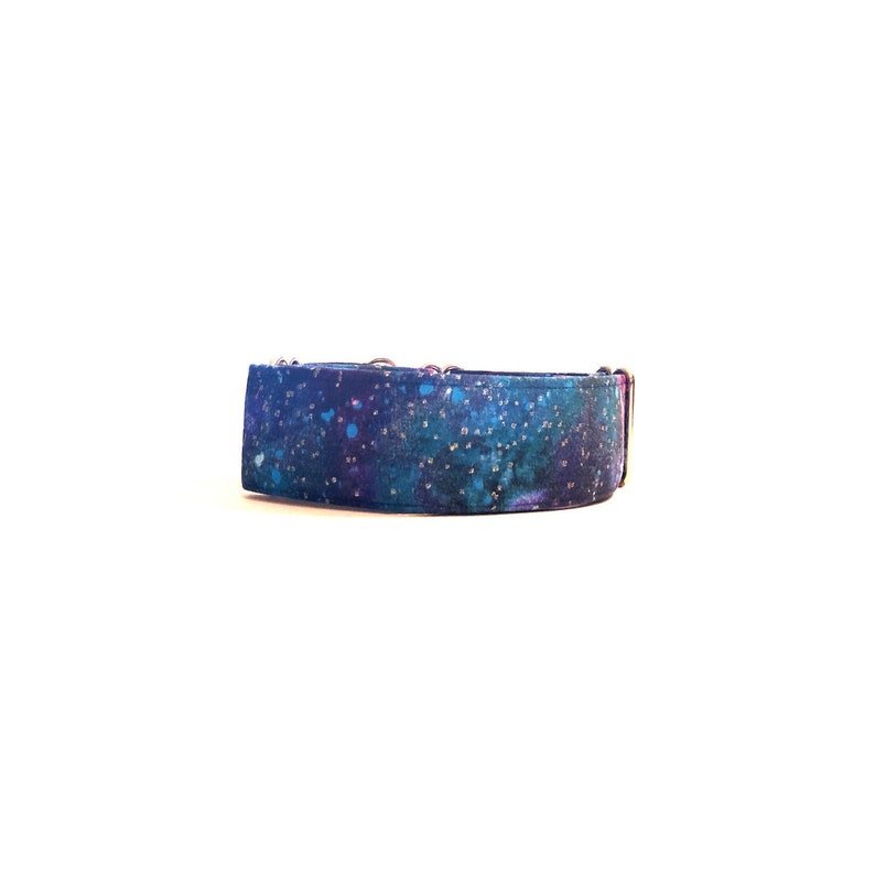 Galaxy Dog Collar - Buckle or Martingale - Custom Embroidery Available!