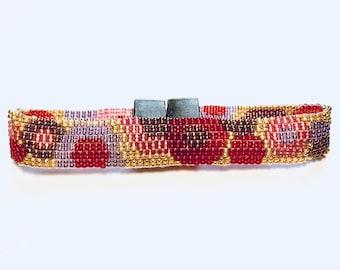 Bracelet Miyuki 1.5 mm beads Peyote