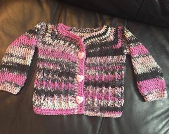 Crochet baby girl sweater