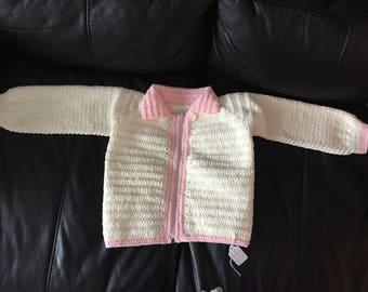 Crochet sweater for a girl