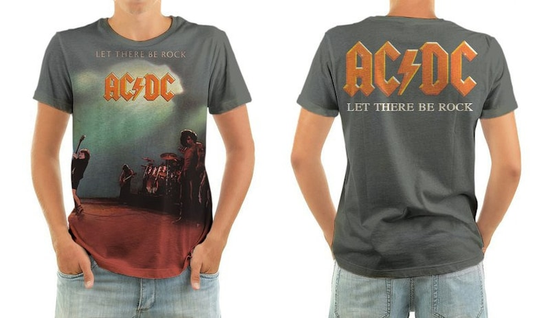 43c62956c2b Acdc let there be rock shirt