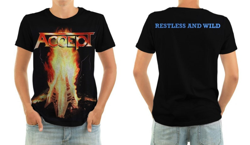 ACCEPT restless and wild shirt all sizes