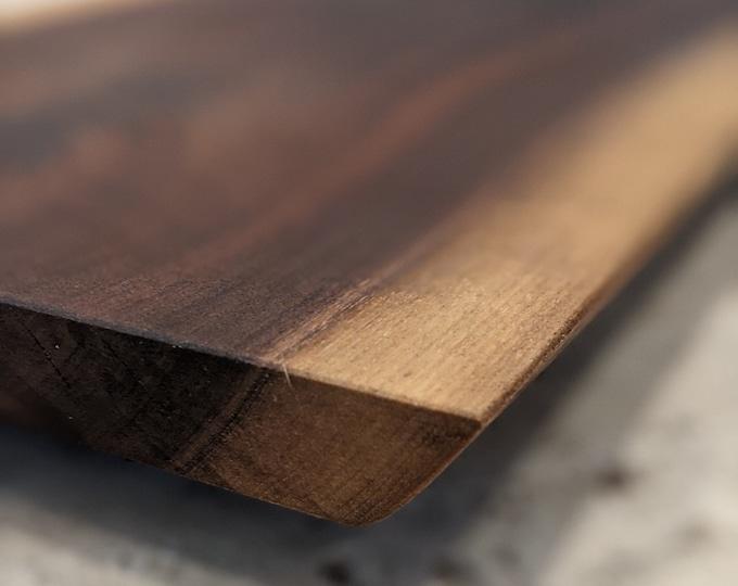 2.5+ ft Long Walnut Live Edge Floating Charcuterie Board - Polenta board - Cheese platter - FREE wooden SPREADER- KNIFE