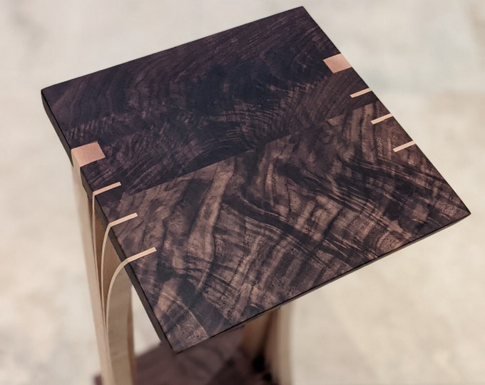 One 10x10 Display Stand - Hard Maple and walnut - Japanese Inspired Design - ready to ship