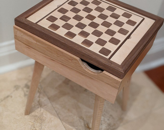 Bed side table with detachable Chess insert