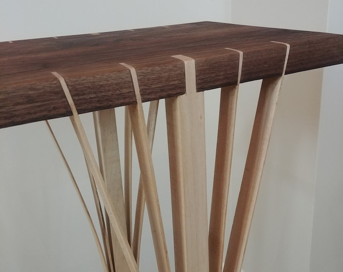 Wooden Audiophile Speaker Stand - Hard Maple and walnut - Japanese Inspired Design - Custom sizes available