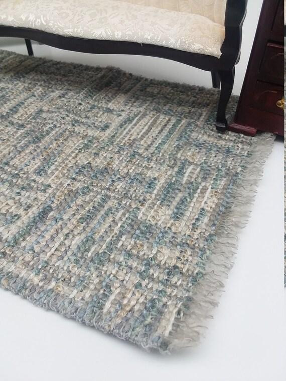 2PCS Handmade Woven Rug Floor Carpet Mini Decor For 1//12 Dollhouse Accessory
