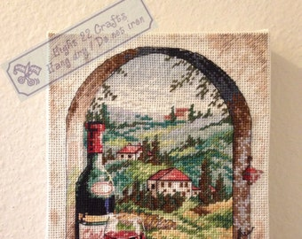 Dreaming of Tuscany - completed cross stitch