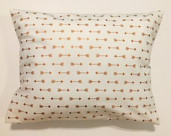 Travel Pillow   Arrows Travel Pillowcase   Rose Gold   Envelope Pillowcase