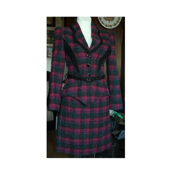 90s Pencil Skirt Suit Set, Jacket and skirt SUIT S