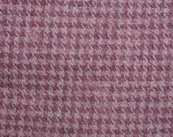 70s, HOUNDSTOOTH wool and polyester fabric, checkered polyester and wool fabric, 3 pieces