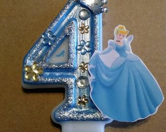 Cinderella Inspired birthday cake  candle