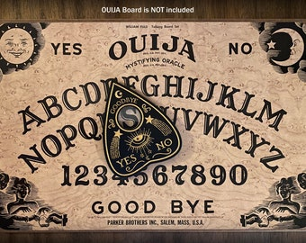 Ouija Planchette - YES - NO - Goodbye - Wooden, Occult, Divination, for Spirit Boards - (Planchette Only)
