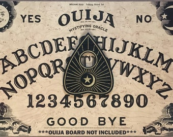 Ouija Planchette - Moon & Sun - Wooden, Occult, Divination, for Spirit Boards (Planchette Only)