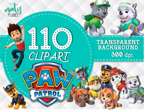 Paw Patrol Clipart Characters Full Quality Transparent Background 300dpi Instant Download PSN005 From MintyPlanet On Etsy Studio