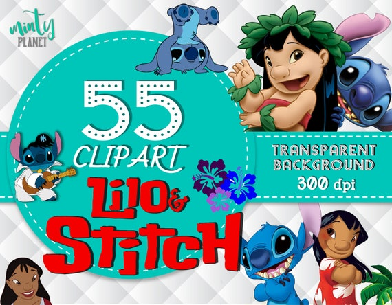 lilo and stitch clipart lilo stitch characters full etsy