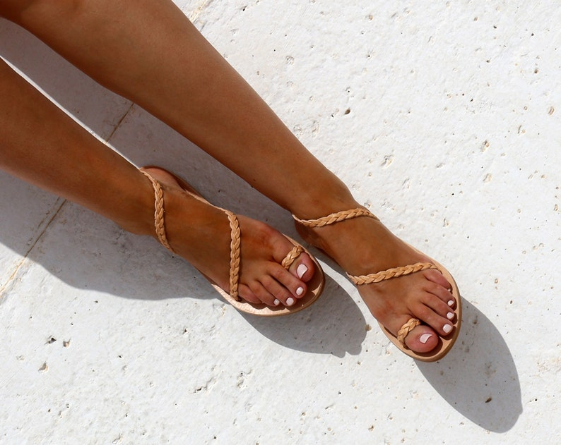 StrapEtsy Ankle Braided Leather Ankle Sandals Braided Leather Sandals StrapEtsy 5Ac3Rj4Lq