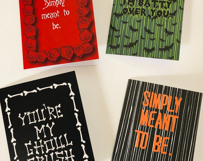 Featured listing image: Spooky Valentine Cards