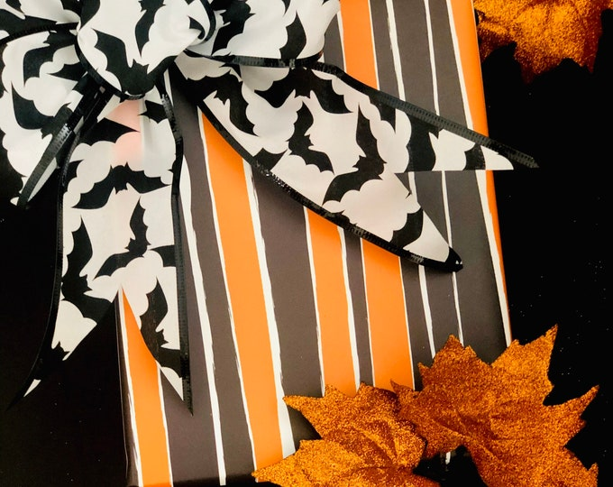 Featured listing image: Halloween Stripes Wrapping Paper