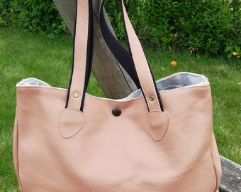 Shoulder bag hand made genuine cowhide leather