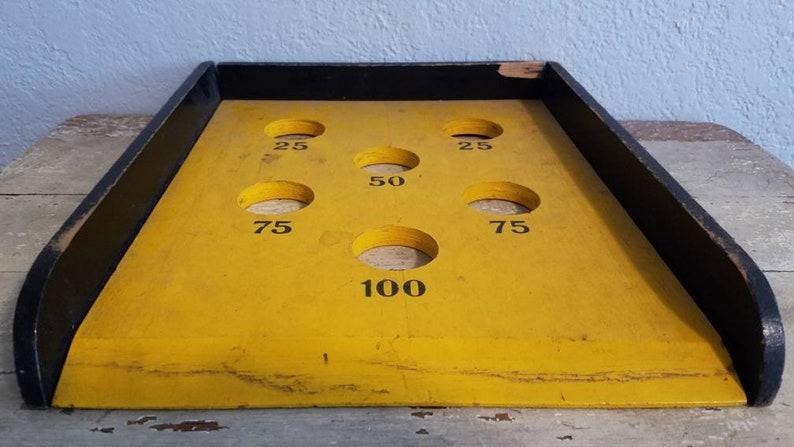 Vintage Carnival Style Skeet Ball Floor Game