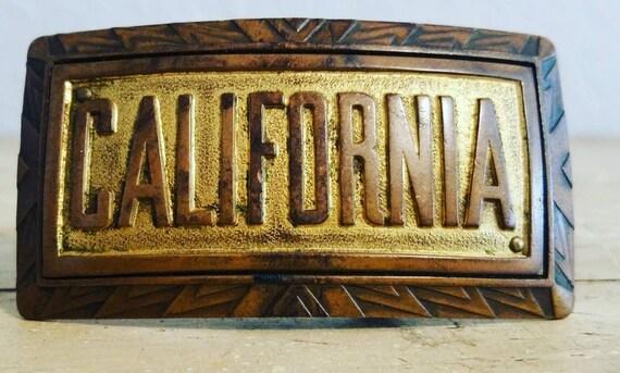 California Antique Belt Buckle