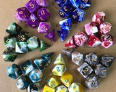 Buy 3 Get 1 FREE-Dice Set for Dungeons and Dragons-dnd dice set-Dice Set DnD-polyhedral dice Set-d d dice- RPG Dice-Set of 7 Dice-7 Color