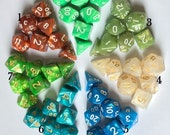 Buy 3 Get 1 FREE-DnD dice set-Dungeons and Dragons Dice-Polyhedral Dice Set-DnD Dice-RPG Dice Set-rpg D20-D D dice-Gaming Dice-7 Color