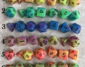Buy 3 Get 1 FREE-GLOW In The Dark Dice-dungeons and dragons dice-Polyhedral Dice Set-dnd dice-rpg Dice-dnd dice set-dice set-Dice Set DnD