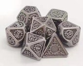 Ancient Metal Dice-Gears Framed dungeons and dragons dice-dnd dice-rpg Dice-dnd dice set-Stunning dice set-Polyhedral dice set-d d dice