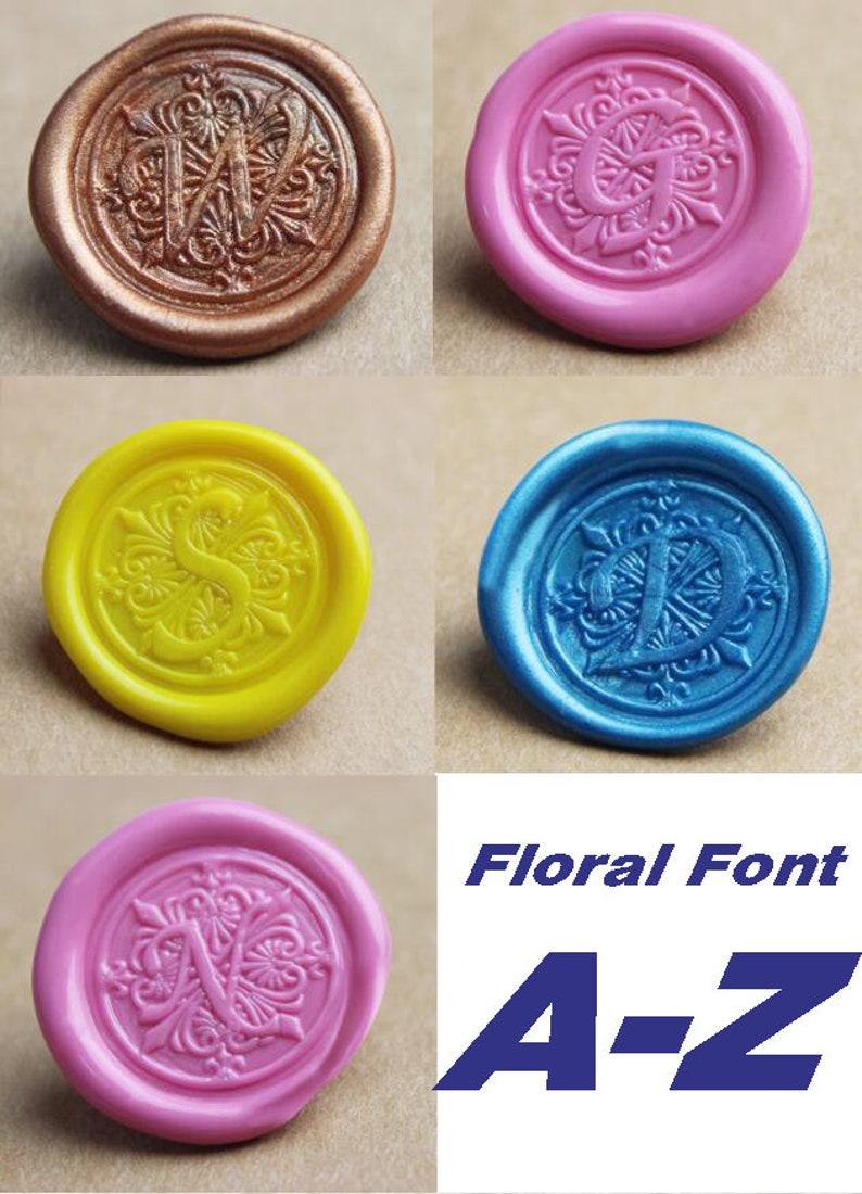 d865374b12ab42 Monogram Wax Seal Stamp-Alphabet sealing wax-wedding