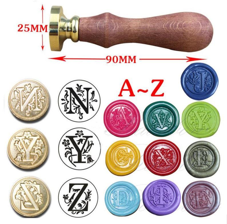 c9df17786ce3e3 Alphabet wax stamp-Monogram sealing wax stamp-Initial Wax